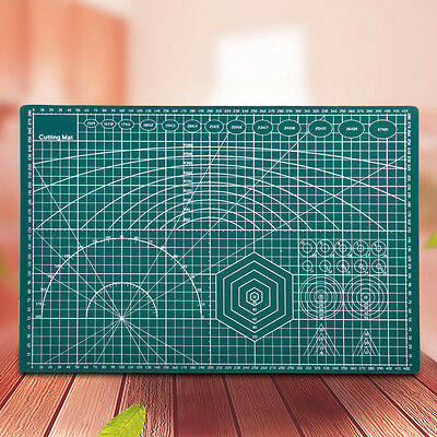 45x30cm A3 Double Sided PVC Cutting Mat Green Self-Healing Cut Pad Durable Tool