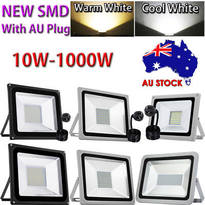 10W-500W LED Flood Light With AU Plug Outdoor Garden Security Lamp Spotlight