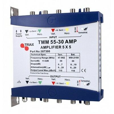 Triax TMM 55-30 AMP IRS Amplifier 5 X 5 Part Number 307300