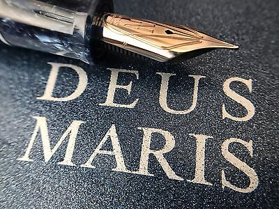 Nettuno Deus Maris Fountain Pen Limited Edition 18k White Gold Nib