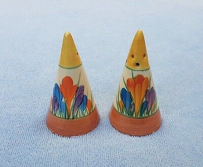 Clarice Cliff Conical Salt And Pepper