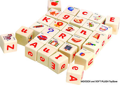 VOILA TOY wooden EDUCATIONAL BLOCKS LEARNING ALPHABET LETTERS WORDS Brand New