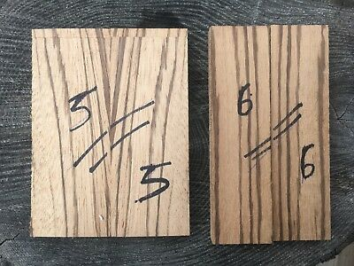 Zebrawood / Zebrano bookmatched knife scale / knife handle sets