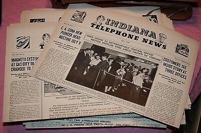 Vintage Indiana Telephone News 1933 1934 1935 1936 1938 1939 bell indianapolis