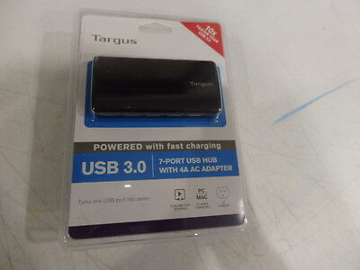 TARGUS - 10x FASTER THAN USB 2.0 - 7 Port USB Hub with AC Adapter USB 3.0