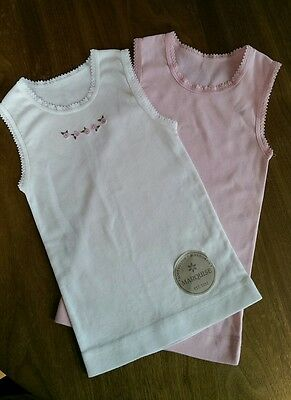 New Marquise singlets x 2 pink and white Size 1
