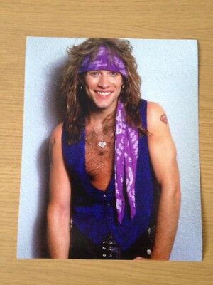 "2 x Jon Bon Jovi Photo 10"" x 8"" New Jersey, Slippery When Wet"