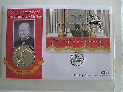 50th Anniversary Of The Liberation Of Jersey £2 Coin First Day Cover