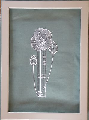Charles Rennie Mackintosh Style embroidered picture frame embroidery Art Nouveau