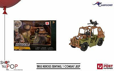 True Heroes Sentinel 1 Combat Jeep & Figures set BNIB War Army Kids Play Fun Toy