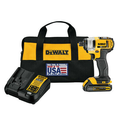 DEWALT 20V MAX 1.5 Ah Cordless Li-Ion 1/4 in. Impact Driver Kit DCF885C1 New