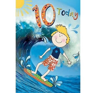 Happy 10th Birthday Greeting Car For Boys By Trendy Pops