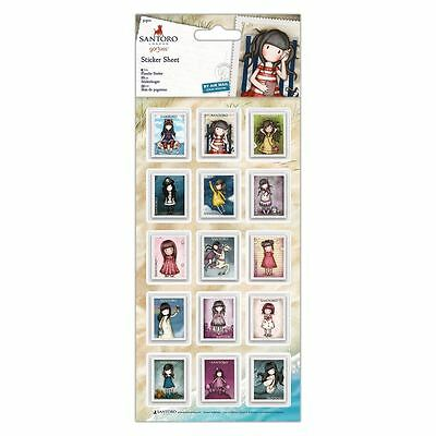 Santoro Gorjuss Postal Craft Collection - Sticker Adhesive Sheet (30pcs)