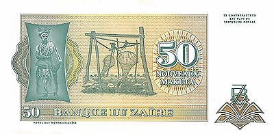 Zaire  50 New Makuta  24.6.1993  Series B-C  Uncirculated Banknote WNS16J