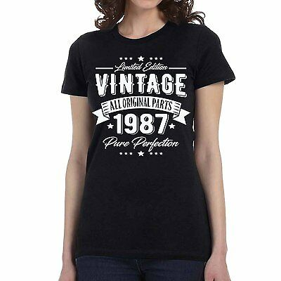 New 1987 Vintage Pure Perfection 30th Birthday T-shirt Men's Women Sizes S-3XL