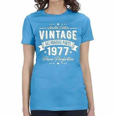 New 1977 Vintage Pure Perfection 40th Birthday T-shirt Men's Women Sizes S-3XL