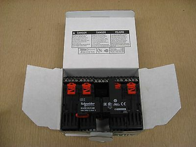 New Schneider Electric RXZE2S114M 10A 250V RXZ Zelio Relay Socket Box of 10