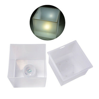 Square LED Ice Bucket Champagne Plastic Luminous Light Cooler Bar Party HS615