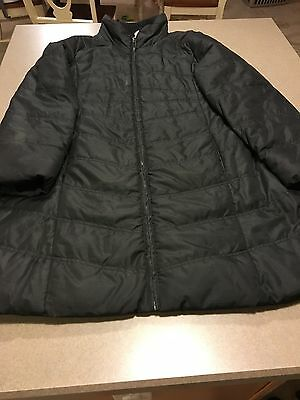 Motherhood Maternity Quilted Puffer Knee Length Maternity Coat.   Black, Large.