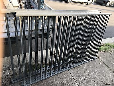 Flat Top Tubular Fence Panels With Pedestrian Gate