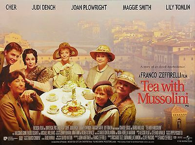 """Tea with Mussolini 16"""" x 12"""" Reproduction Movie Poster Photograph"""