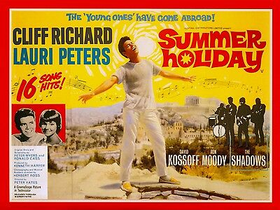 "Summer Holiday 1963 16"" x 12"" Reproduction Movie Poster Photograph"