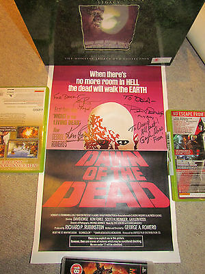DAWN OF THE DEAD - HAND SIGNED / AUTOGRAPH MINI POSTER - All 4 Cast !