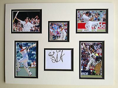"""England Cricket Kevin Pietersen Signed 16"""" X 12"""" Double Mounted Display"""