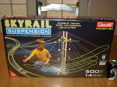 Quercetti Toy- Skyrail Suspension Marble Track & Motorized Elevator, #500 pcs.