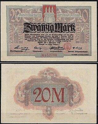 Altona - Hamburg 20 Mark 1918 Notgeld   (cb158