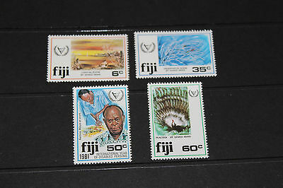 Fiji 1981 Year Of Disabled Persons Set 4 Fine M/n/h