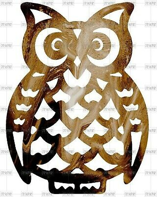 DXF CNC dxf for Plasma Router Clip Art Vector Owl Wall Art Man Cave