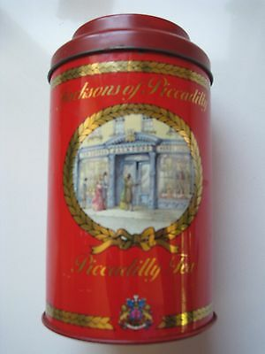 Jacksons of Piccadilly Large Tea Tin Caddy Canister Collectable Free Post
