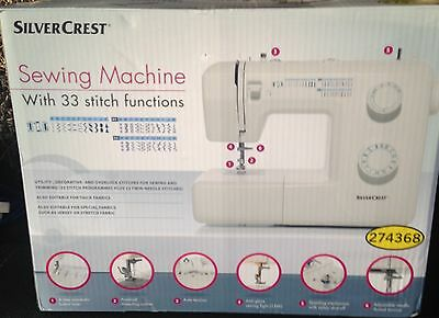 Silvercrest Sewing Machine 33 Stitch Functions Brand New Free Post