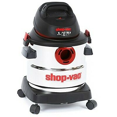 HP Stainless Steel Wet Dry Vacuum cleaning garages shops offices shock vac