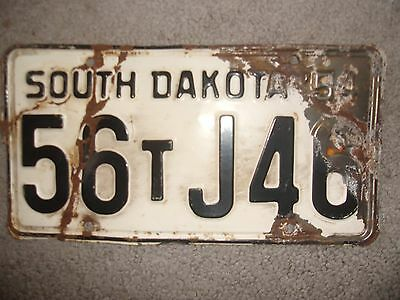 1954 South Dakota License Plate Sd'54 License Single Truck Man Cave Fence Hng