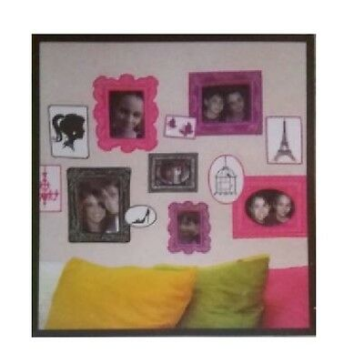 Wall Decor For Teen Girls French Frames Removable Stickers Decals Bedroom Walls