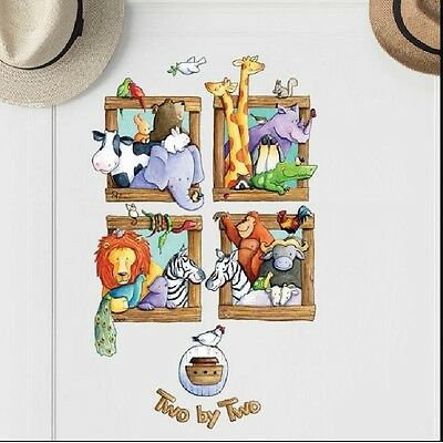 Wall Decals For Kids Room Noahs Arc Removable Wall Decor Playroom Daycare