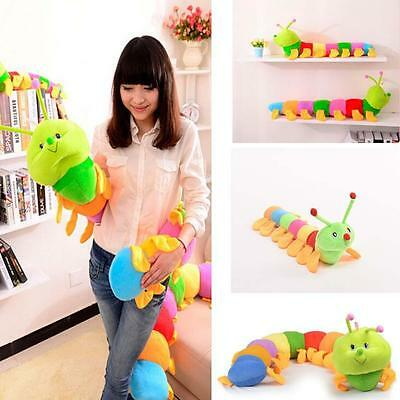 Colorful Large Inchworm Soft Caterpillar pillow Plush Toy Doll Kid Child Gift Y^