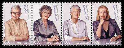 2011 Australian Decimal stamps -  Legends - Advancing equality - MNH strip of 4