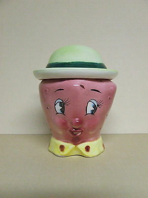 Vintage Anthropomorphic Stacker Strawberry/Fruit w/Hat Salt & Pepper Shakers