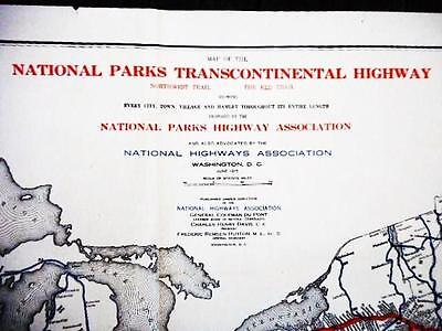 1915 Proposed United States National Parks Transcontinental Map. Wm. C. Durant