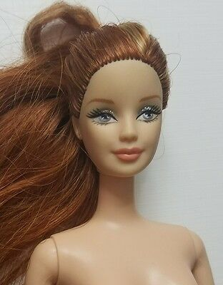 Barbie ZODIAC Sign Red Hair Redhead Beautiful Eyes NUDE