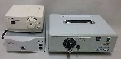 Lot 3 Luxtec Ultralite_9300_Welch Allyn_ Surgical Xenon Light Source XPS Solarc