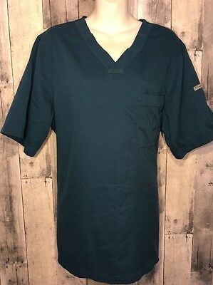 Grey's Anatomy by Barco Style 0103 3-Pocket MENS V-Neck Scrub Top SIZE M Teal