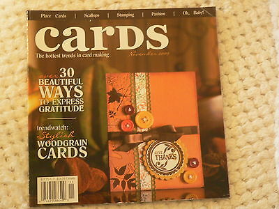 """""""CARDS"""" card making magizine book vol 4 issue 11"""