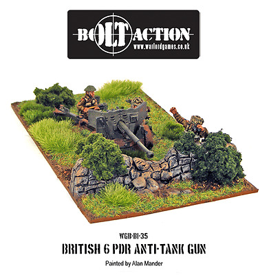 Warlord Games - Bolt Action - Great Britain - Morter + 6 Pdr