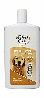 Perfect Coat 32-Ounce Bottle Natural Oatmeal Shampoo for Dogs French Vanilla