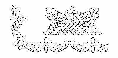 Sten Source Quilt Stencils by Barbara Chainey 3-Inch Scallop Feather and 11-I...