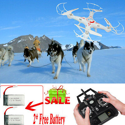 White X5C-1 2.4G 4CH RC Explorers Quadcopter 6Axis Heli Drone HD Camera 2Battery